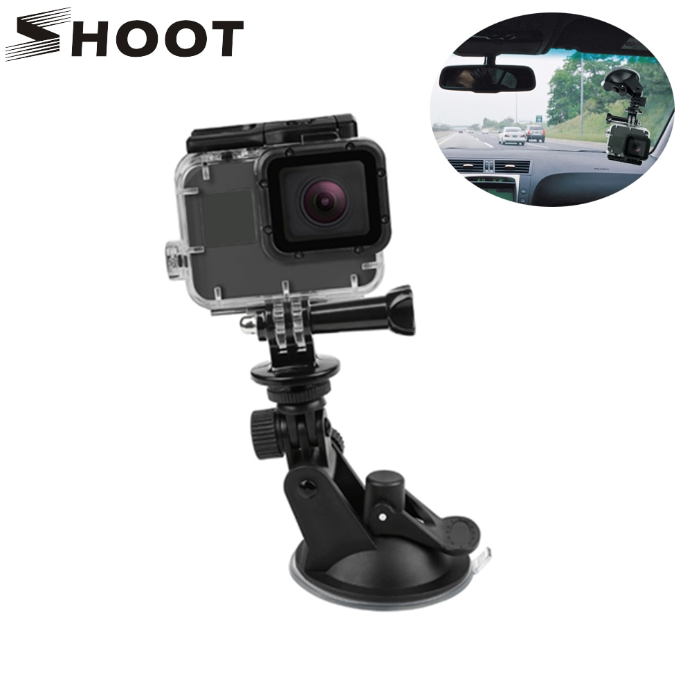 SHOOT Mini Action Camera Suction Cup for GoPro Hero 9 8 7 5 Black SJCAM SJ8 Yi 4K H9r Go Pro Mount Window Glass Sucker Accessory shoot fetch dog harness chest strap for gopro hero 9 8 7 5 session sjcam sj4000 m20 xiaomi yi 4k h9r dji action camera accessory