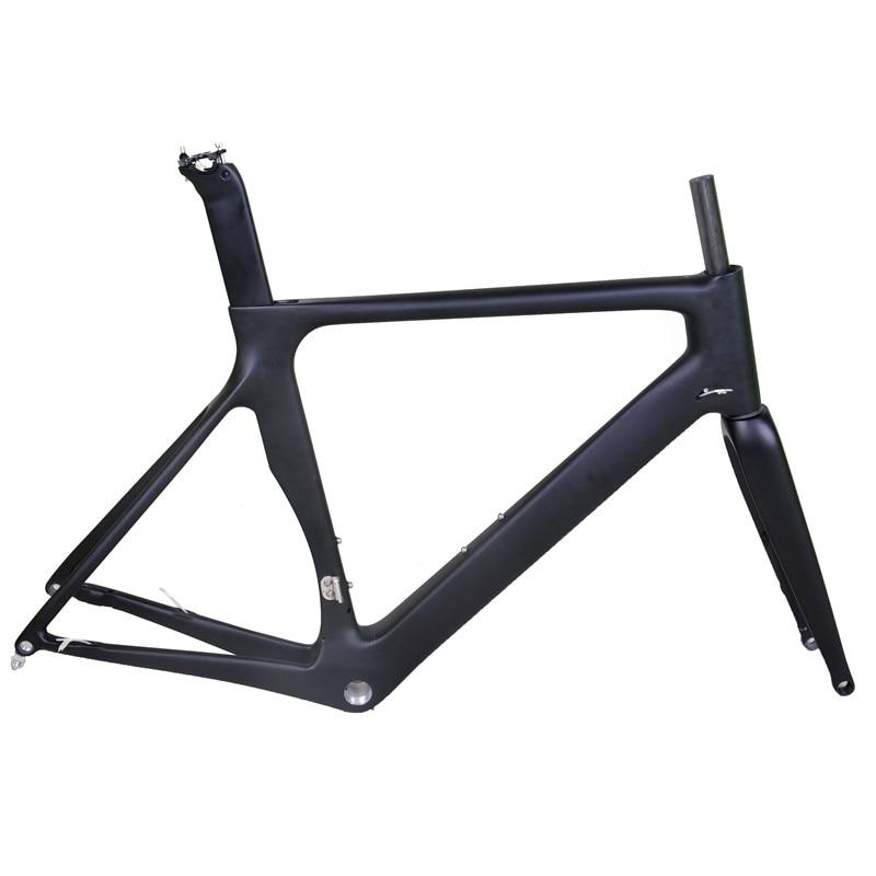 Frete grátis dengfu 700c quadro de bicicleta estrada carbono completo ud racing disco através do eixo 700x25c pneu largo