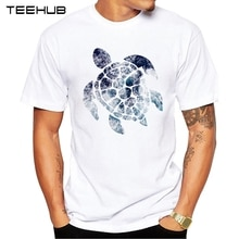 2019 teehub 여름 남성 패션 바다 바다 거북 인쇄 된 t-셔츠 반팔 인기 디자인 탑스 참신 티