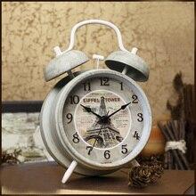 Réveil Double cloche pour enfants   Vintage, rétro, 4 pouces 11.6CM, avec veilleuse, coque en métal, pour bureau, nouvelle collection