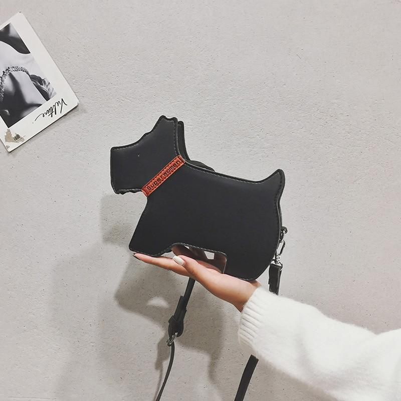 Kobiety dziewczęta Crossbody wielofunkcyjna torba na ramię Funny Dog Shape torebki z ekoskóry na podróże zakupy 26x19x6CM