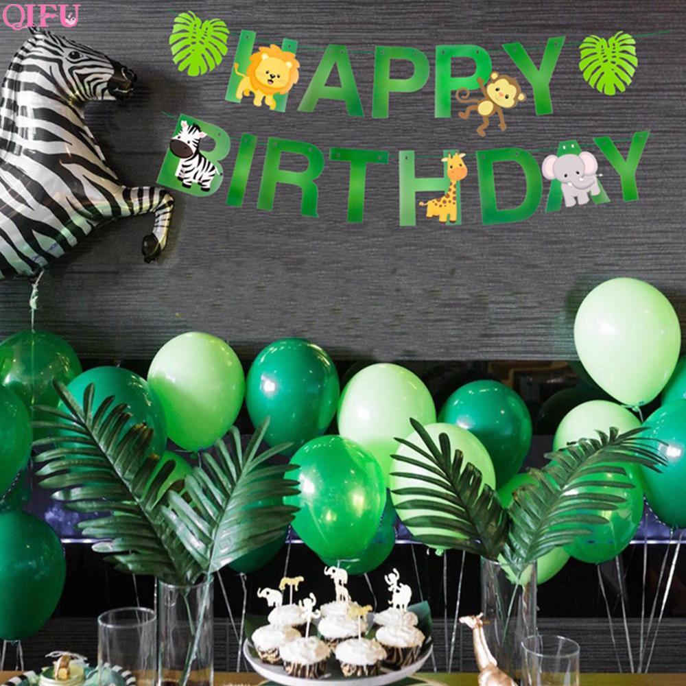 Globo de látex globos de animales de la selva globo globos de cumpleaños selva Fiesta Temática inflable globos decoración cumpleaños fiesta de Safari
