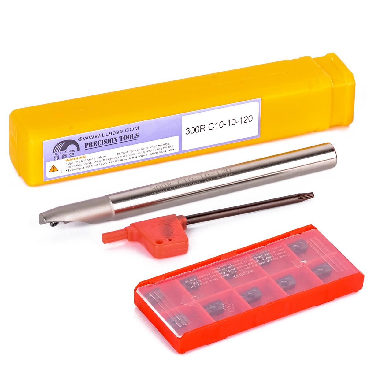 Твердосплавные вставки APMT1135PDER, 10 шт., 1 шт., держатель инструмента BAP 300R с гаечным ключом для фрезерных токарных инструментов