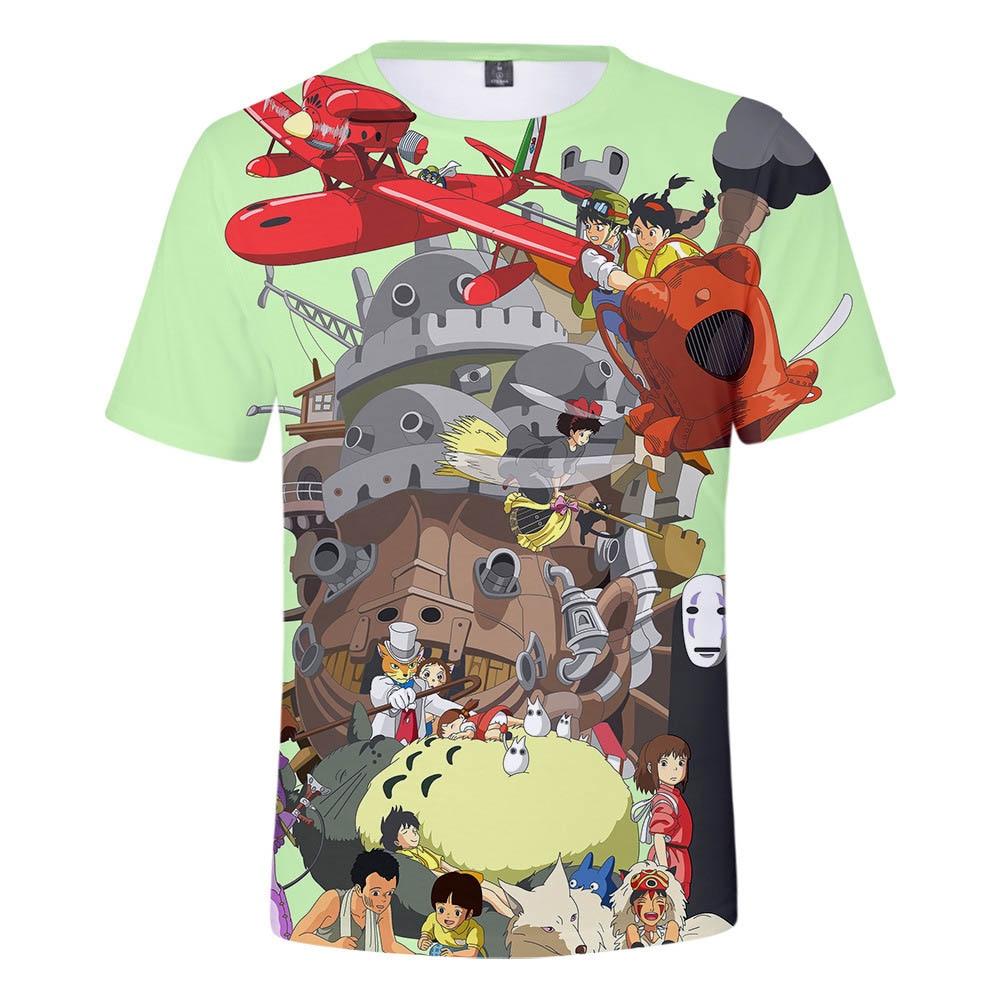 Japanischen Anime T Hemd Männer Frauen Kid T-shirt 3d Print Studio Ghibli Hayao Miyazaki Totoro Chihiros