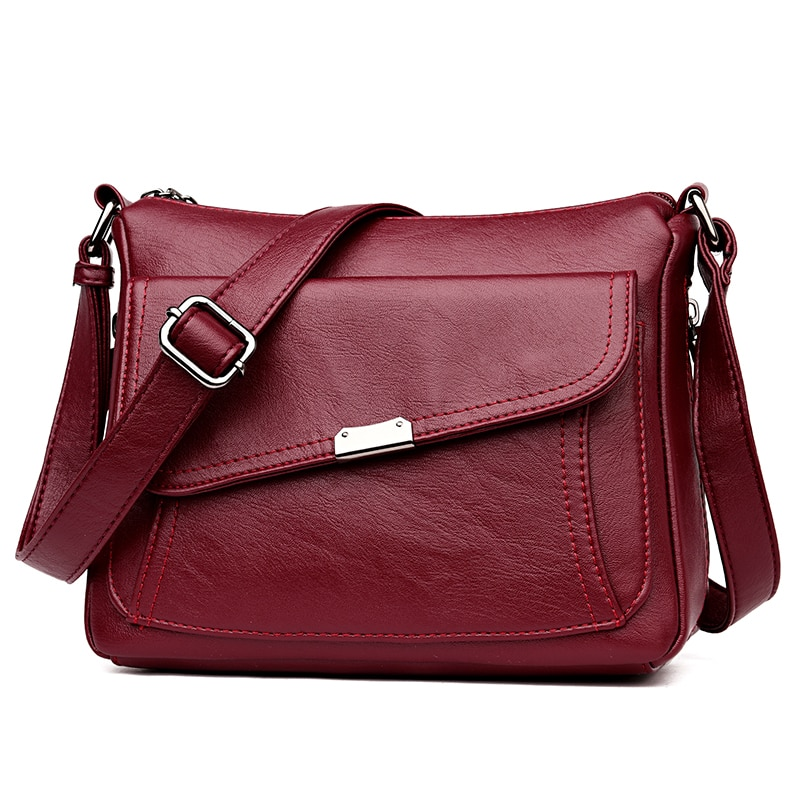 Female leather Messenger Bags Feminina Bolsa Leather Luxury Handbags Women Bags Designer Sac a Main Ladies Shoulder Bag