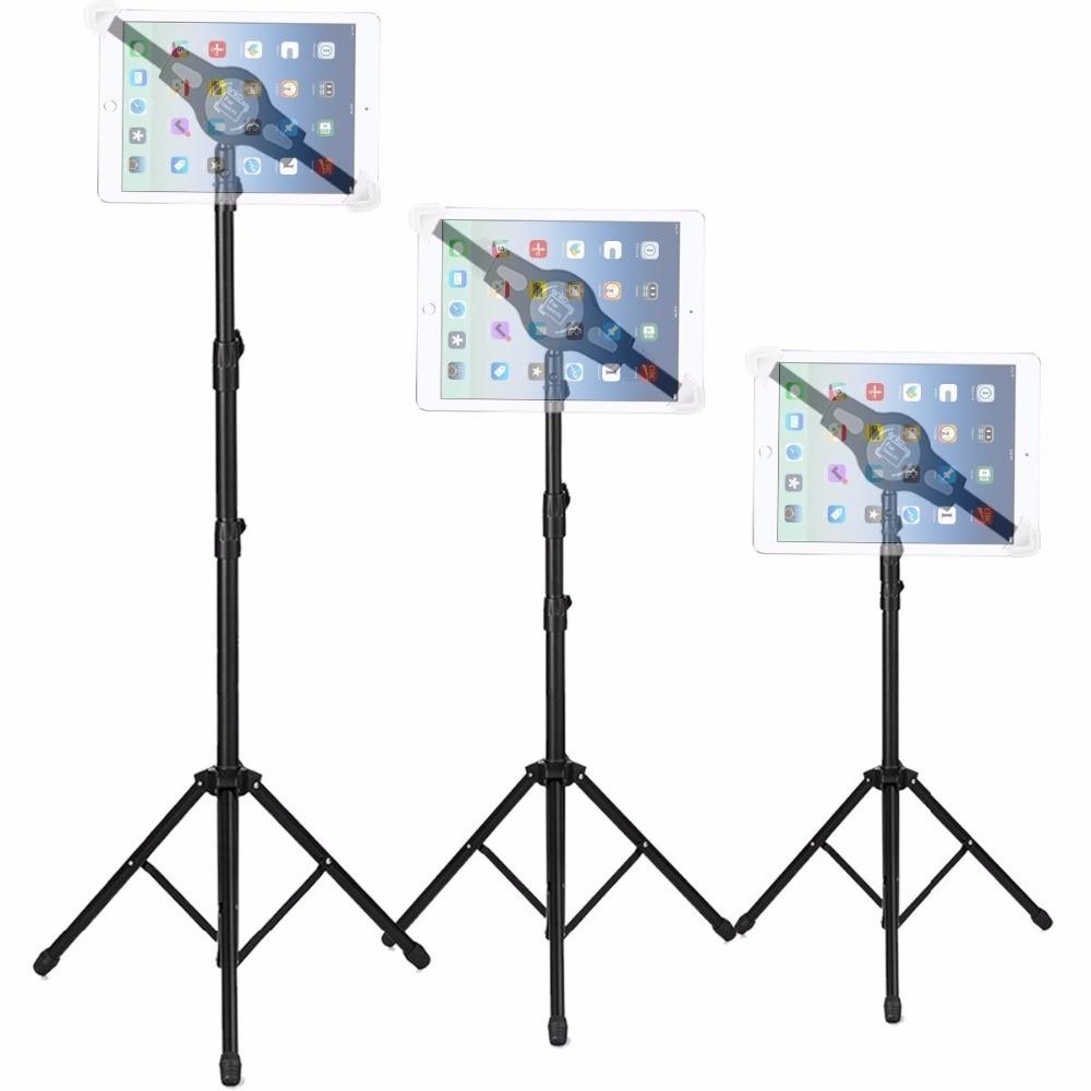 Tripod Floor Tablet Stand Height Adjustable 360 Rotating Tablets Holder for iPad Mini Air Pro Kindle Samsung Lenovo 7-12 inch