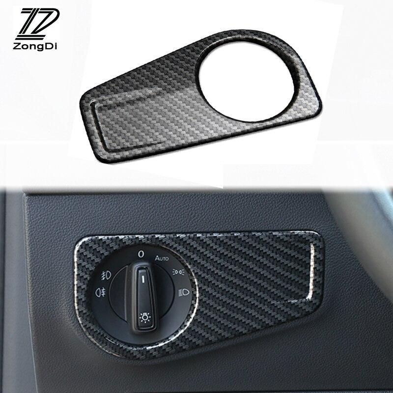 ZD Auto Abdeckungen Für Volkswagen Tiguan MK2 2016 Zubehör Für VW Tiguan 2017 2018 Auto Scheinwerfer Einstellen Taste Trim Abdeckung 1 stücke
