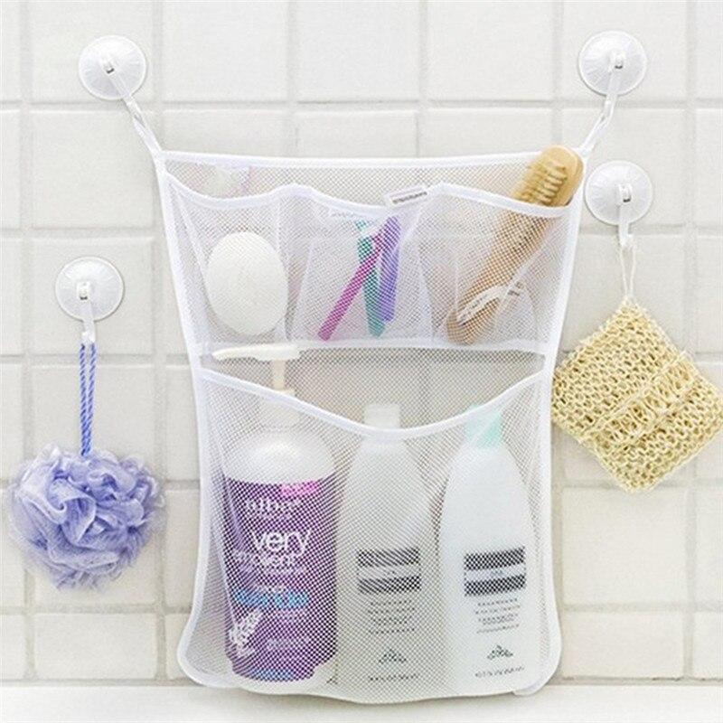 Imixlot wiszący prysznic netto organizator 4 kieszenie zabawki sklep wanna szampon odżywka pojemnik na gąbkę torby do drzwi domu sypialnia