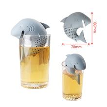 NICEYARD لطيف الأمريكية القرش شكل سيليكون مصفاة شاي تصفية أدوات مطبخ الشاي Infuser أكياس الشاي فارغة teبينة