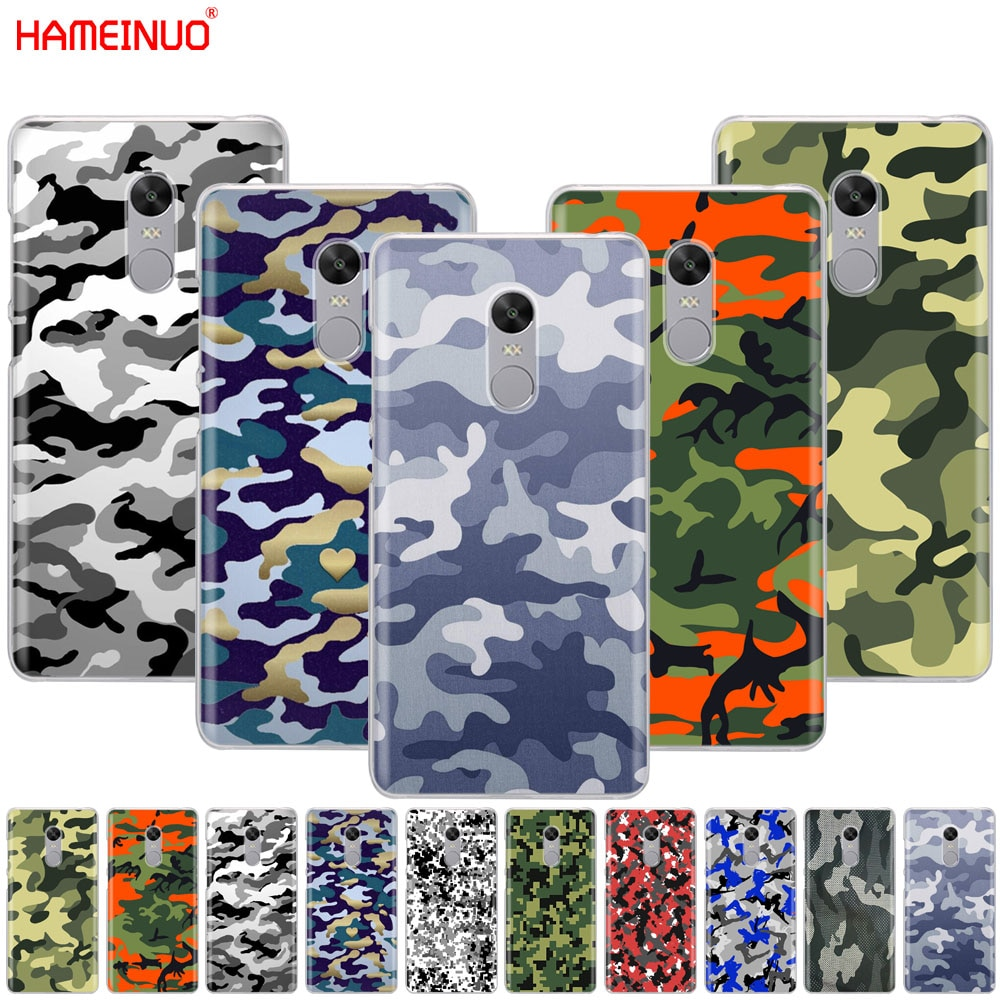 HAMEINUO camuflaje patrón camuflaje ejército cubierta funda de teléfono para Xiaomi redmi 5 4 1 1s 2 3 3s pro PLUS redmi Nota 4 4X 4A 5A