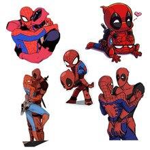 Deadpool Spiderman broche merveille femme Superman Batman acrylique broches avec broche Patch amour Harley Quinn Badge broches