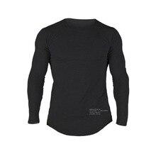 BIAOLUN hommes T-shirt à manches longues O cou T-shirt coton t-shirts hauts hommes Fitness marque T-shirt hommes Alpha vêtements Homme