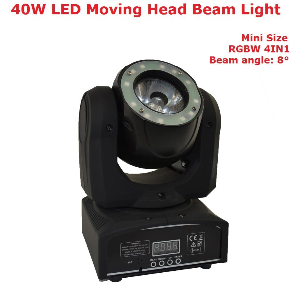 Portable 40W LED Moving Head Light DJ LED Lamp RGBW 4IN1 LED Moving Head Beam Light With LED Ring For Disco Light Music Party