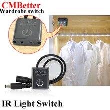 IR mouvement interrupteur lampe armoire armoire à capteur   Lampe armoire à capteur placard maison, commutateurs DC 12-24V, accessoires de lumière interrupteur darmoire