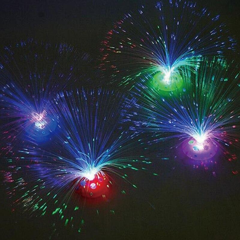 عرس زخرفة جميلة رومانسية اللون تشانغ led الألياف البصرية ضوء الليل ضوء مصباح بطارية بدعم صغيرة عيد الحزب