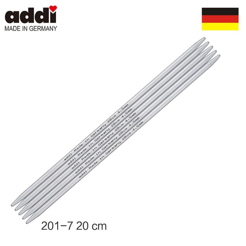 Agujas rectas de doble punta Addi 201-7-20cm