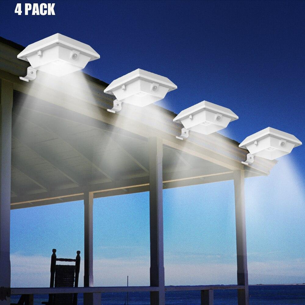 T-SUNRISE 4PCS PACK Solar Gutter Licht Motion Sensor 12 LEDs Solar Licht Outdoor Solar Beleuchtung Pfad Licht für Garten sicherheit