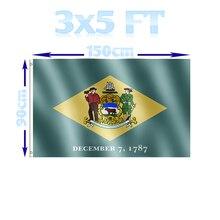 BENFACTORY Store drapeaux Delaware en Polyester   3x5 pieds, drapeau détat, monocouche 100D avec œillets en laiton