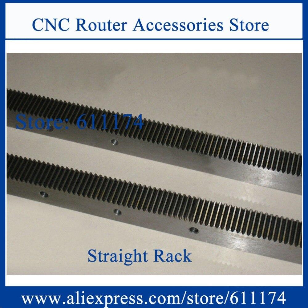 Estante de engranajes de alta precisión y piñón, módulo de estante de engranaje recto 1,5 tamaño 20*20*1000mm precisión C7 CNC máquina rack rail