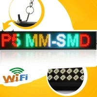 p5 smd open led sign android mobile wifi wireless programmable scroll news time countdown led display board mixed color