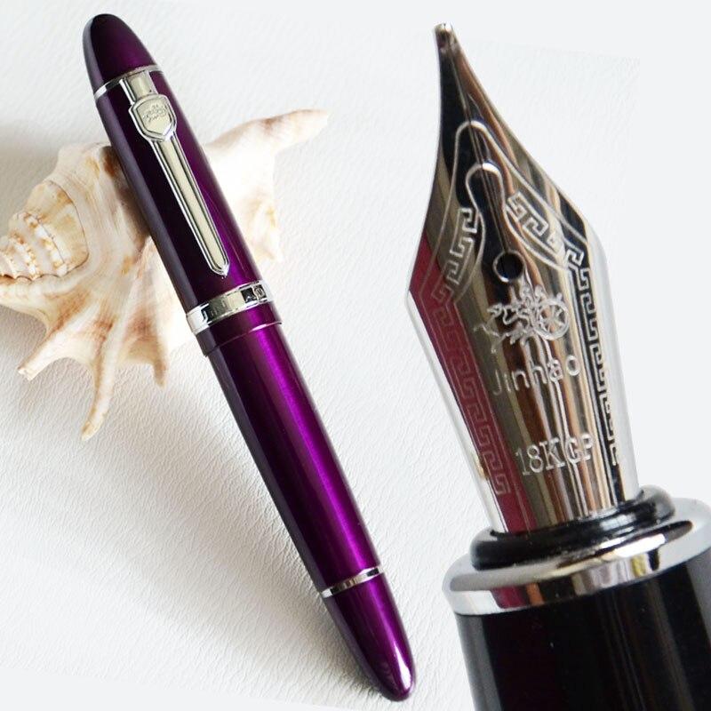 Перьевая ручка 18KGP 0,7 мм средняя ширина JINHAO 159 перо Фиолетовый Белый Черный Оранжевый Синий Желтый 19 видов цветов на выбор