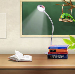 High Power LED Desk BED Reading Lamp Clamp Clip ON OFF Office Room Night Light