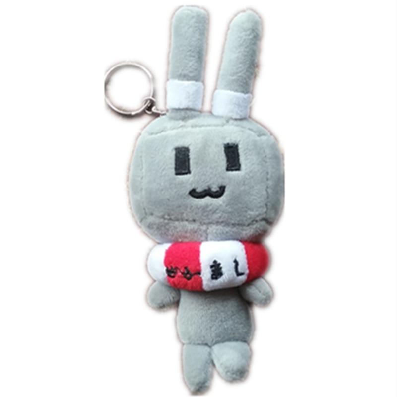 Dibujos animados de 17cm, colección de la flota shimakaze, conejo gris con salvavidas, juguetes de peluche, conejo gris, robot, muñeca, juguetes, gorros, gorros