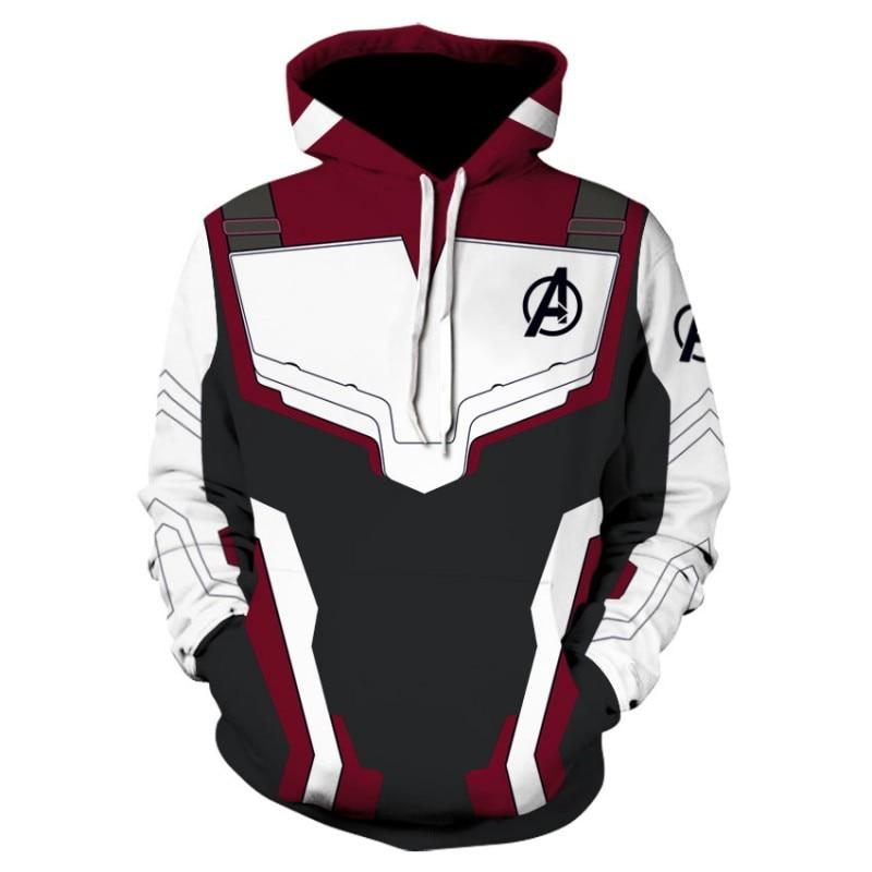 Marvel The Avengers 4 Endgame Quantum Realm Cosplay Costume Hoodies Men Hooded Avengers Zipper End Game Sweatshirt Jacket