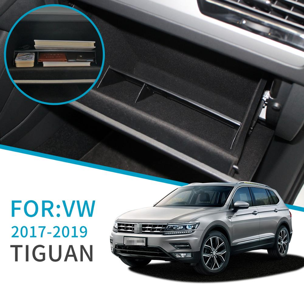 Sambee para guantera de coche, almacenamiento de intervalo para Volkswagen Tiguan 2017 2018 2019 MK2, accesorios, consola, caja de almacenamiento para piloto