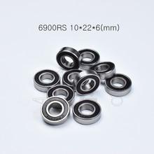 6900RS 10*22*6(mm) 10piece bearing free shipping abec-5 rubber sealed bearing Thin wall bearing 6900 6900RS chrome steel bearing