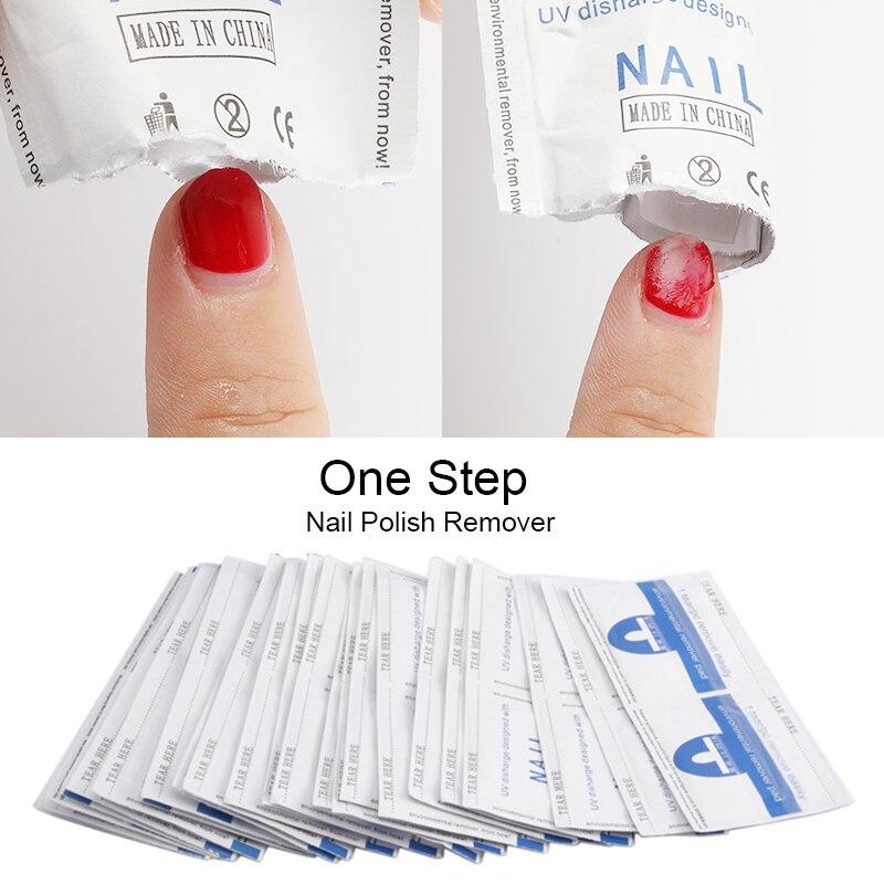 ROSALIND uña desengrasante Gel eliminador de esmalte toallitas sin pelusa servilletas para manicura Cleanser Nail Art Soak Off Cleaner Nail UV Ge