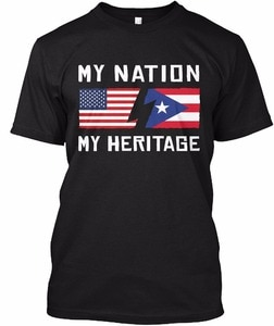2018  Fashion Mens T Shirt Short Sleeve Casual Active Puerto Rican Heritage Printed Tee Men Cotton T Shirt Fitness  Youth