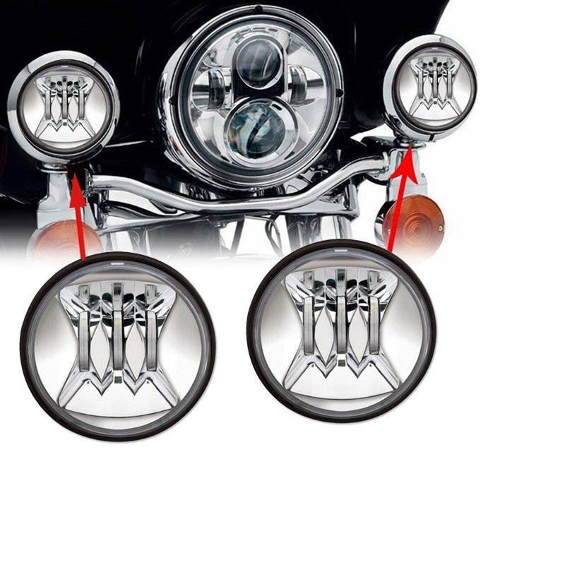 Luz Led antiniebla de 4,5 pulgadas, lámpara de paso adecuada para motocicleta Harley Street GLIDE Touring Road king Har ley, serie de piezas