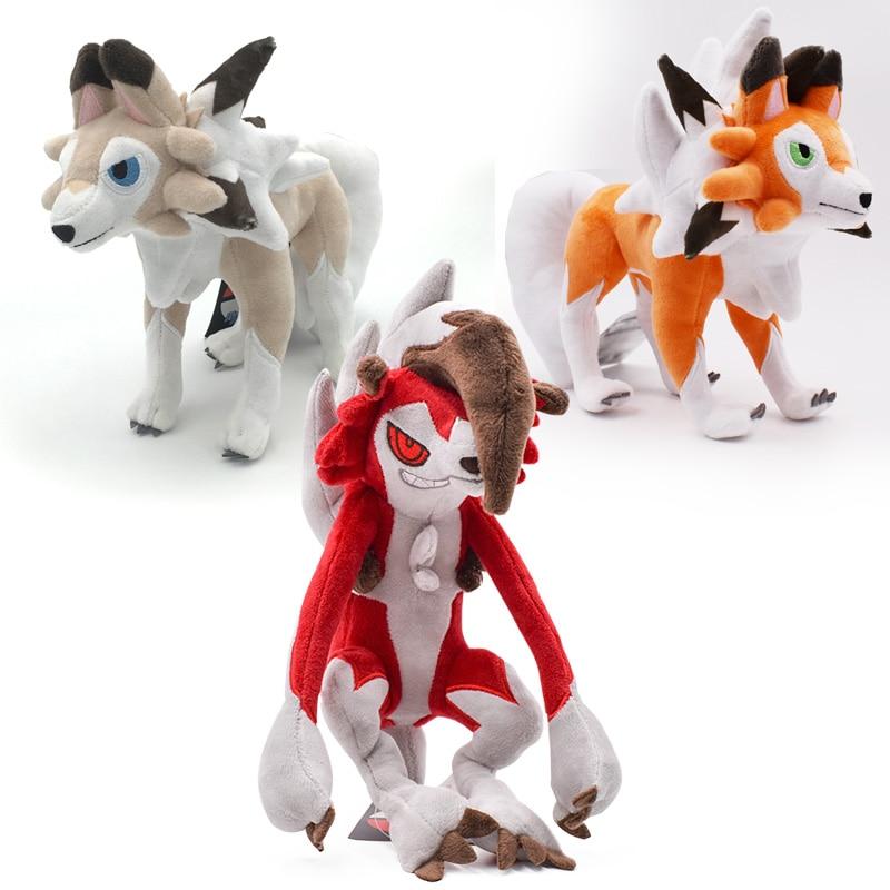 3 вида стилей Sun/Moon Alola Solgaleo Lunala Lycanroc Dusk & Lycanroc дневной и Lycanroc Ночная Плюшевая Кукла Мягкие животные горячие игрушки