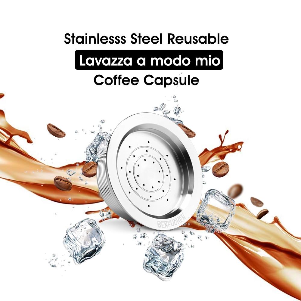 Фильтр для кофе icafilas, фильтр для кофемашины Lavazza A Modo Mio, фильтры из нержавеющей стали, многоразовые кофейные капсулы с ложкой