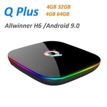 10 pièces Q Plus tv box Android 9.0 4GB 32GB 64GB USB3.0 4K IPTV Netflix décodeur intelligent Q Plus PK X96 H96 MAX lecteur multimédia