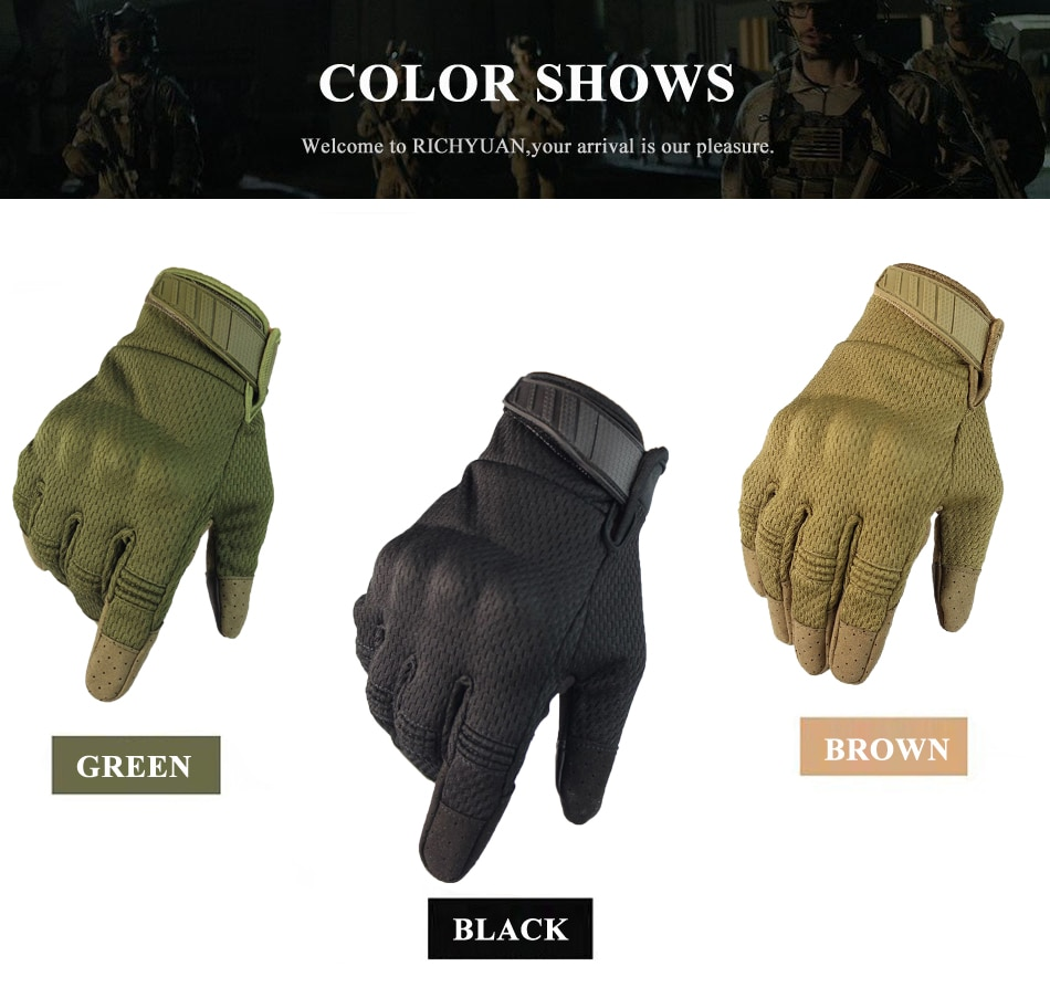 Touch Screen Motorcycle Full Finger Gloves Motocross Camouflage Breathable Protective Gear Motorbike Racing Hard Knuckle Driving enlarge