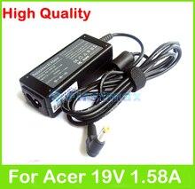 19 V 1.58A chargeur pour ordinateur portable Pour Acer Aspire One A110 A150 D210 D250 D255 D255E D257 D260 E100 D150 D250 adaptateur secteur