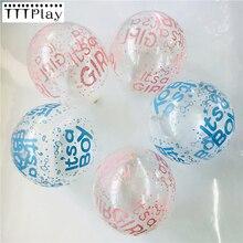 Ballons en Latex its A Boy and its A Girl and Baby Boy, 10 pièces de couleurs transparentes, décoration de fête prénatale, anniversaire, mariage