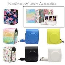 Quality PU Leather Camera Case/Bag/Cover and Instax Mini Film Photo Album for Fuji Fujifilm Instax Mini 70 Instant Film Camera