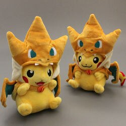 Pikachu cosplay charmander brinquedos de pelúcia brinquedo de boneca de animais de pelúcia 10 brinbrinbrinquedo 2 estilos para escolher
