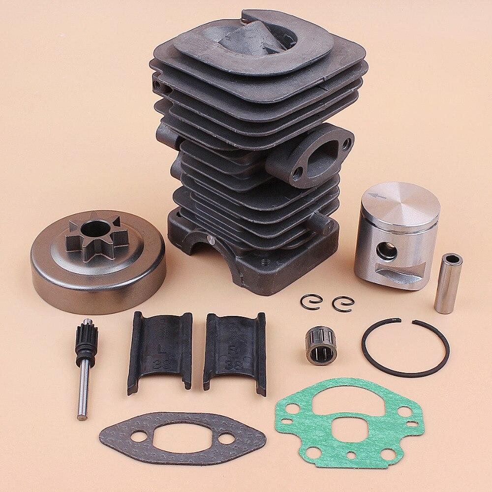39MM cabeza de cilindro de aceite de la bomba de pistón 325 embrague tambor Kit de rodamiento encaja Husqvarna 236, 240 de 235 motosierra de reemplazo de piezas de Motor