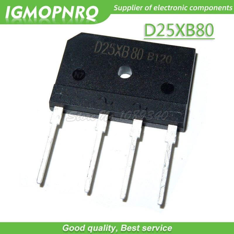 5 uds D25XB80 25XB80 800V 25A ZIP puente rectificadores Puente Nuevo original