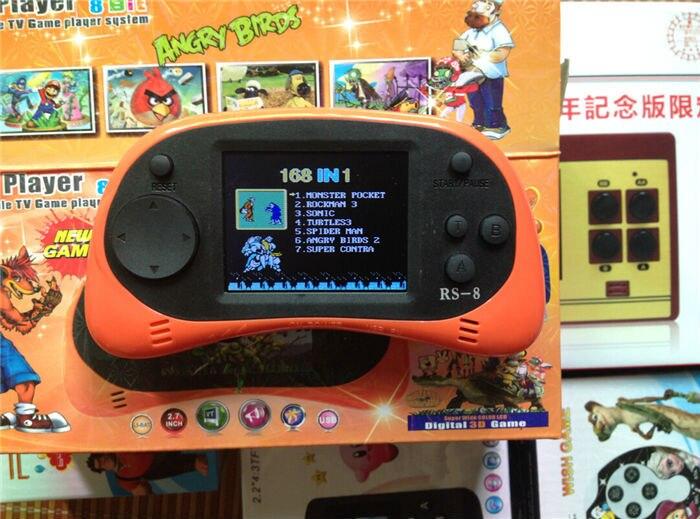 Mais recente atualização handheld game console prepload 260 diferente livre mini jogos 8/16 bit clássico nes melhor presente para crianças menino