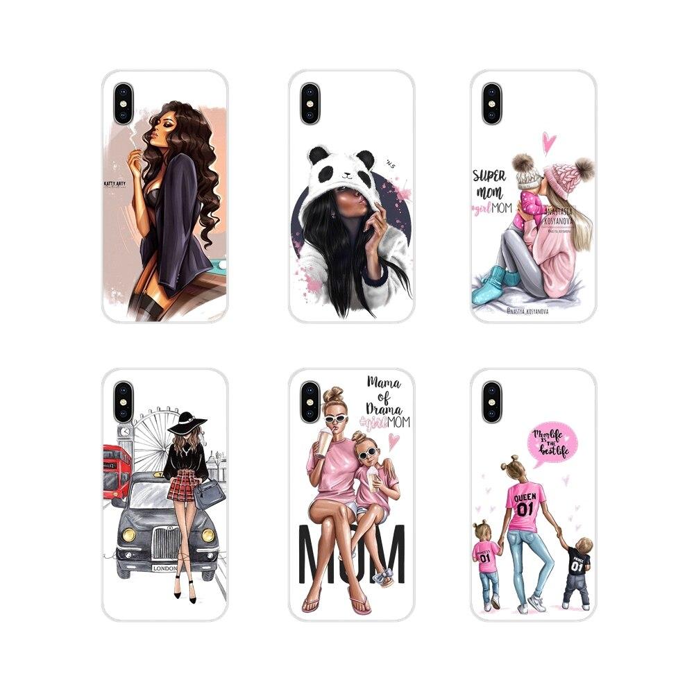 Para Samsung Galaxy A3, A5, A7, J1, J2, J3, J5, J7, 2015, 2016, 2017, princesa Super Mamá, Mamá, niña, accesorios, carcasas para teléfono