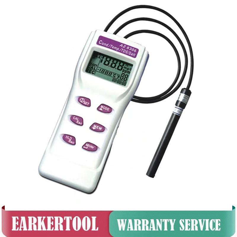 Medidor de conductividad AZ-8306/TDS/compensación de temperatura de sal AZ8306