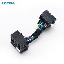 LEEWA-adaptateur de connecteur mâle 36pin   À 40pin femelle, adaptateur de tête de voiture stéréo, Quadlock, faisceau de câblage pour volkswagen agon appareil Audio