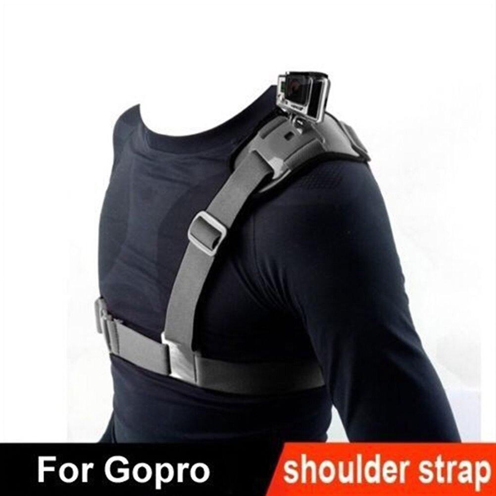 Montaje de correa de hombro para cámara de acción para Gopro Hero 1 2 3 3 + 4 adaptador de cinturón de arnés de pecho deportivo