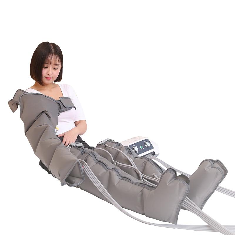 Pressoterapia portátil máquina de drenagem linfática pressão de ar pressoterapia corpo massageador desintoxicação corpo emagrecimento