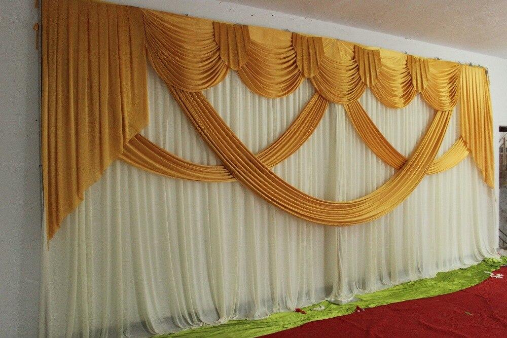 ستائر خلفية من الحرير اللامع للزفاف ، ستائر رومانسية بألوان مختلفة ، بالجملة